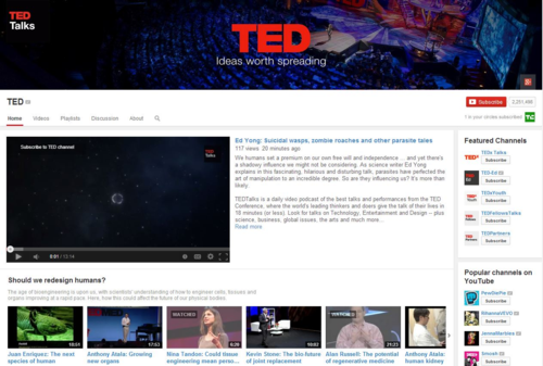 Ted on YouTube