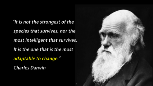 Darwin and Retail Change